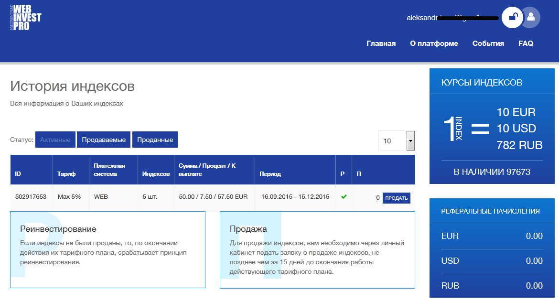 webinvestpro купить индексы