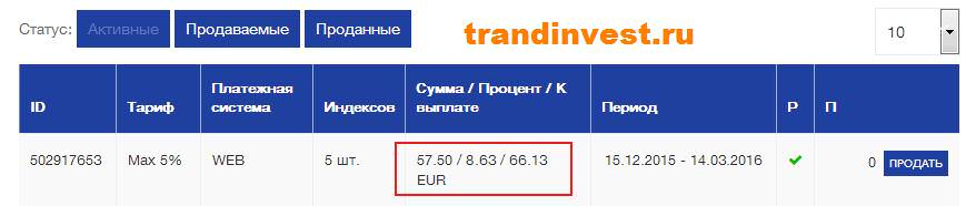 Инвестирование в webinvestpro