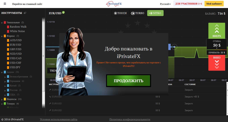 Опционы с privatefx