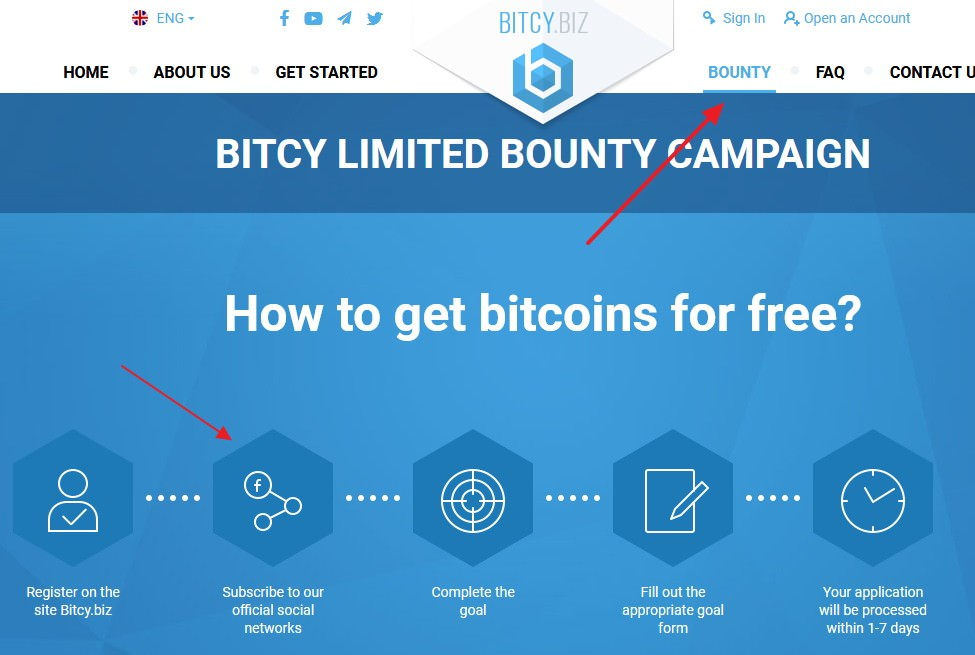 Bitcy bounty