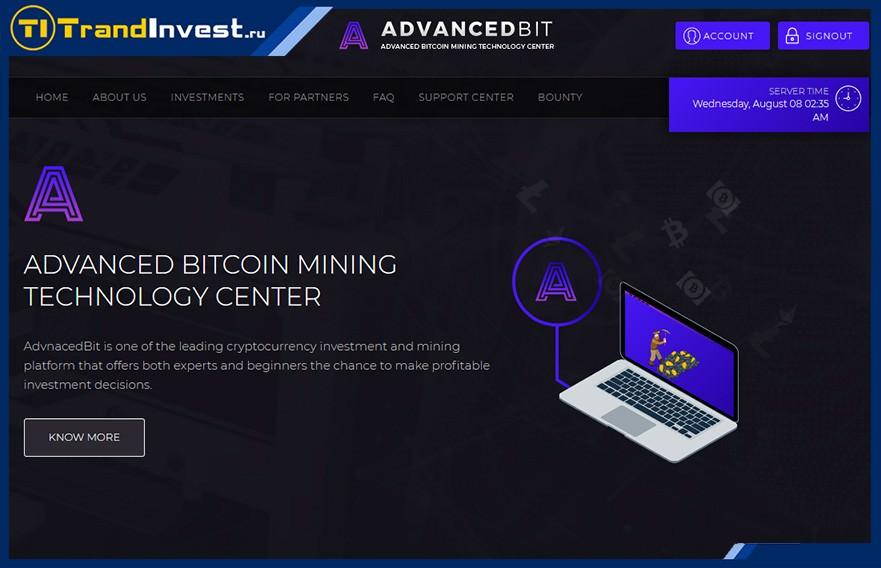 Advancedbit отзывы, обзор проекта от иностранного админа, как инвестировать высокодоходные проекты