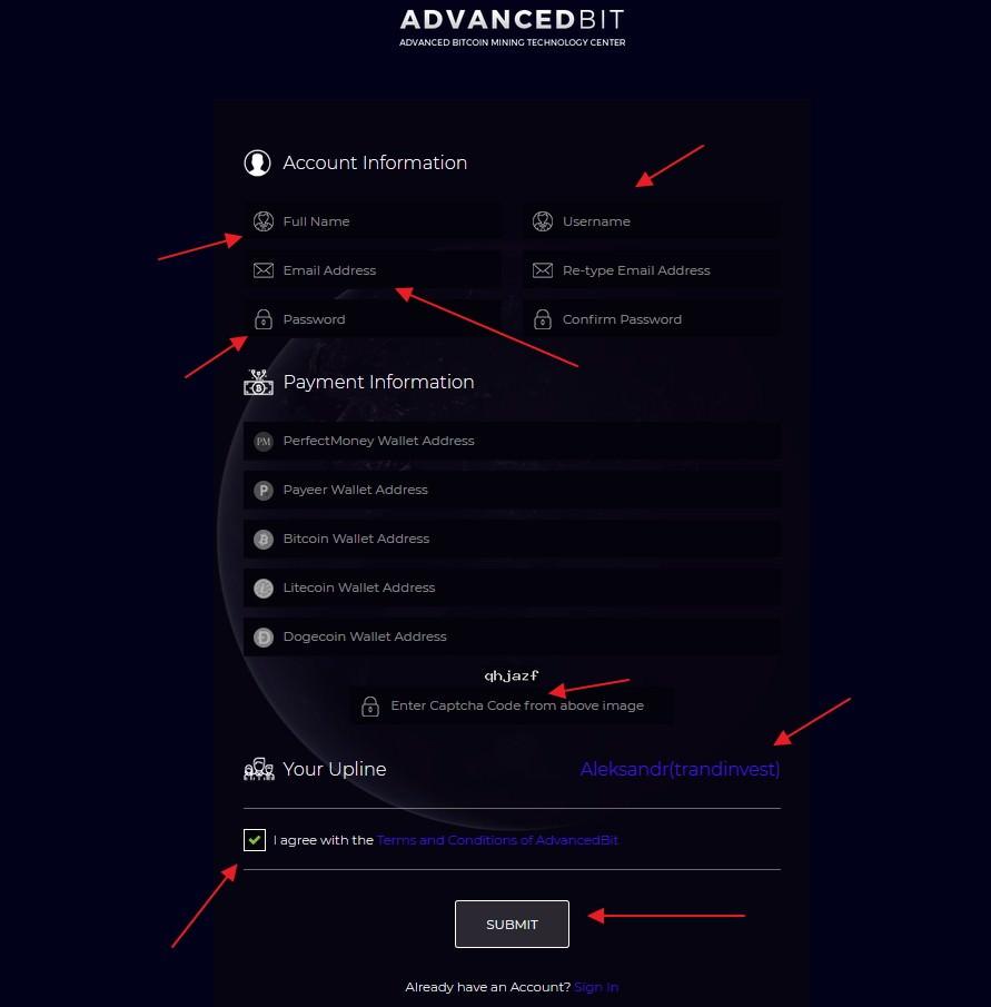 Advancedbit регистрация