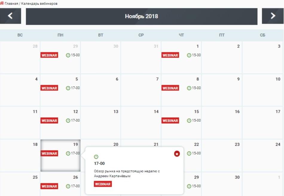 Finmaxfx календарь
