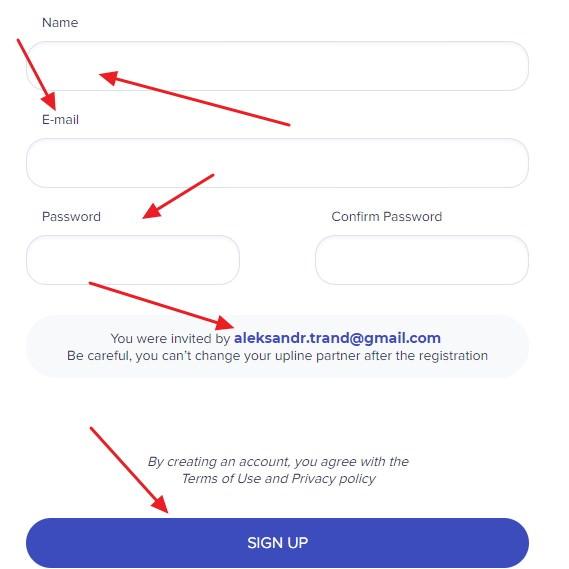 Coinactive регистрация
