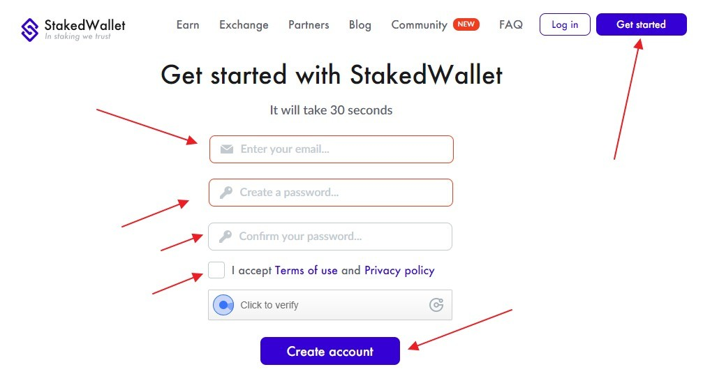 Stakedwallet регистрация