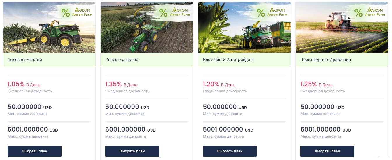 agron инвестиции 2